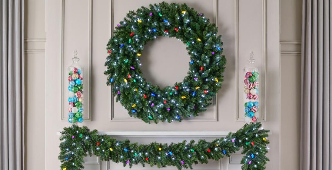Undecorated Wreaths & Garland
