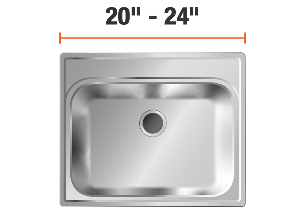 20 inch to 24 inch wide sinks