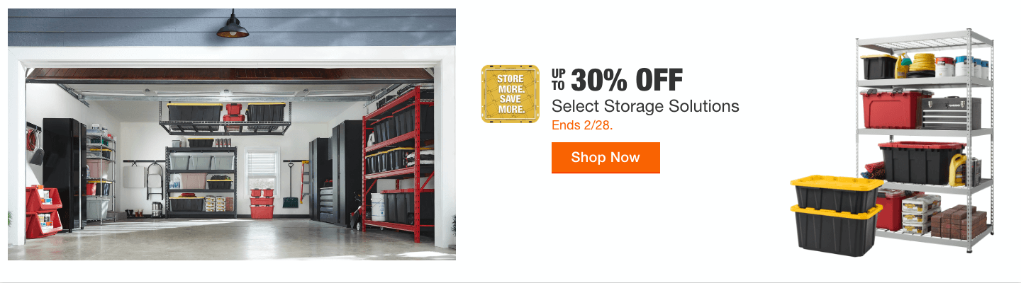 Up To 30% off Select Storage Solutions