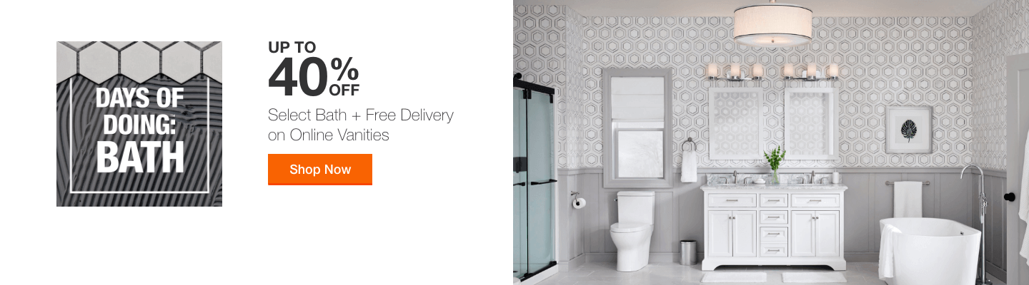 UP TO 40% OFF Select Bath + Free Delivery on Online Vanities Shop Now