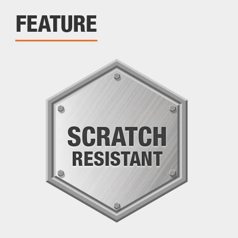 Scratch resistant plastic shelving