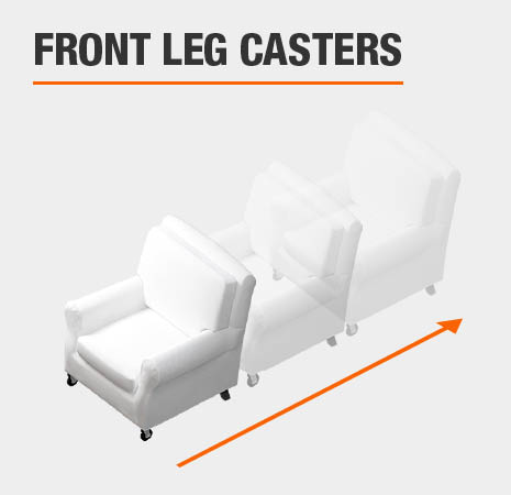 Arm Chair with Front-Leg Casters
