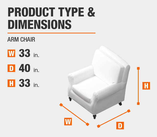 Arm Chair Product Dimensions 33 inches wide 33 inches high