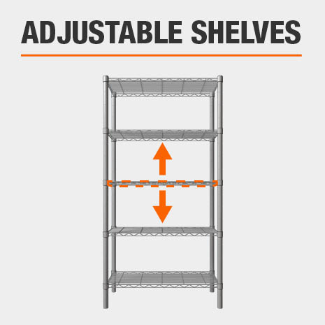 HDX Adjustable Shelves
