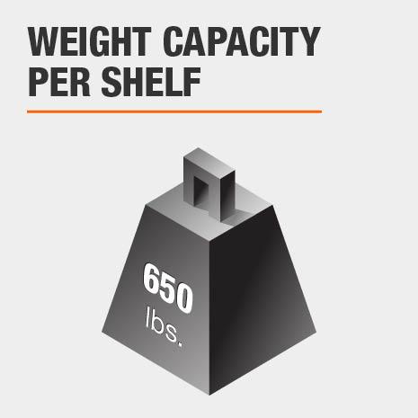 Weight Capacity 650 lbs. per shelf