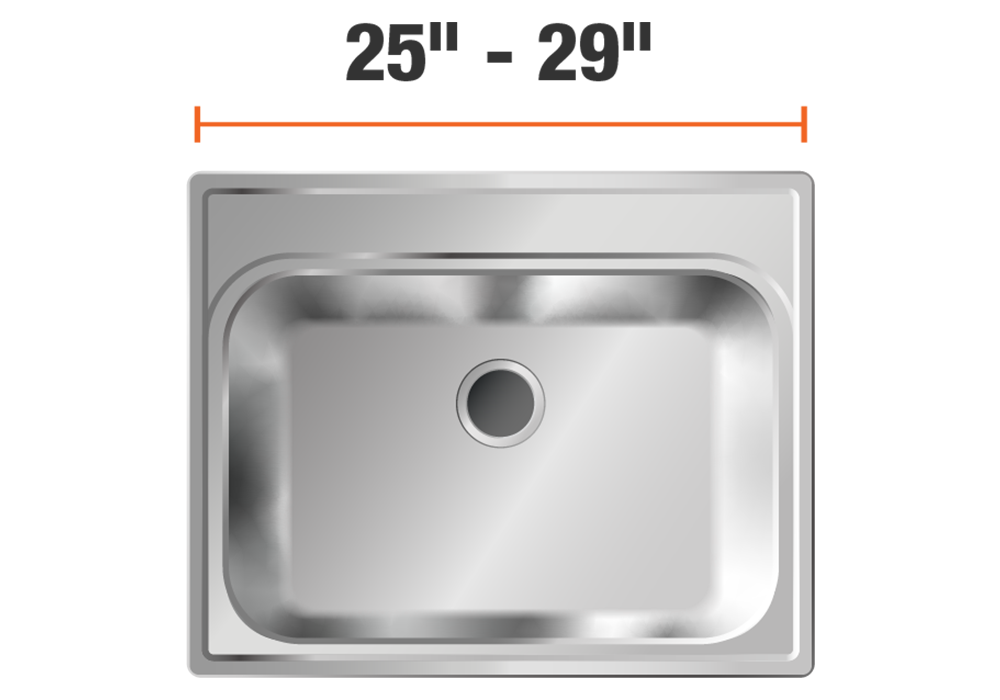 25 inch to 29 inch sinks