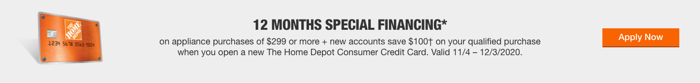 12 MONTHS SPECIAL FINANCING*
