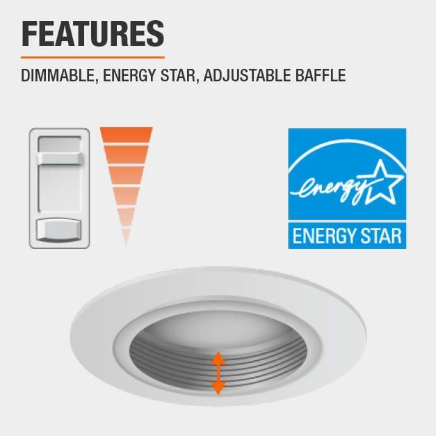 Dimmable, Energy Star, Adjustable Baffle