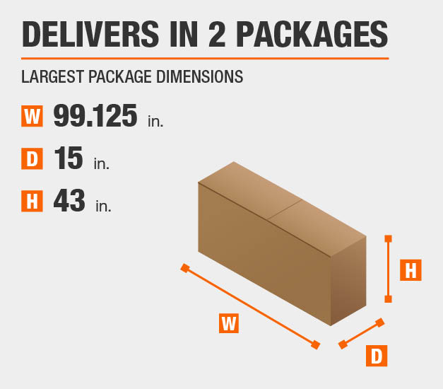 Package Dimensions 99.125 inches wide 43 inches high