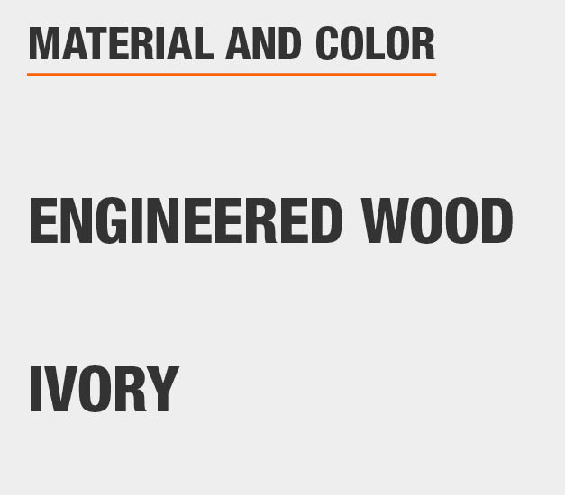 Ivory Engineered Wood Accent Cabinet