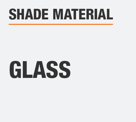 The Shade Material  is Glass