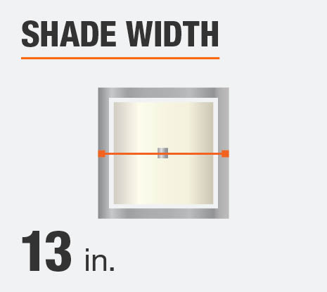 The shade diameter for this product is 13 in