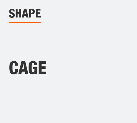 The Shape of this product is cage