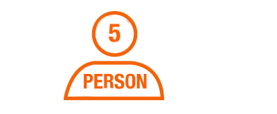 Three to five people