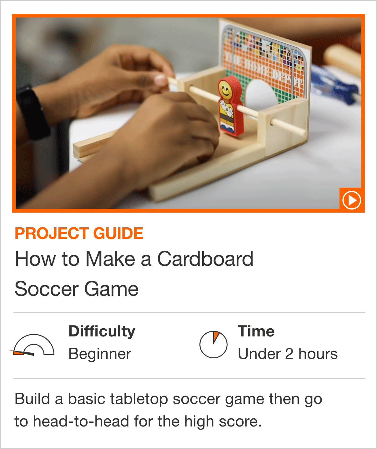 How to Make a Cardboard Soccer Game
