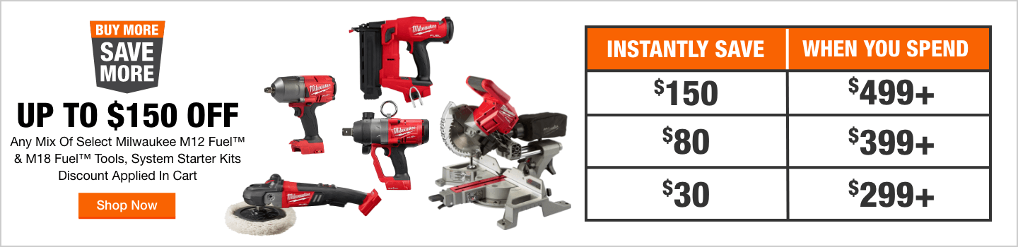 Up To $150 Off Select Milwaukee Tools