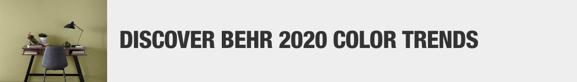 Discover BEHR 2020 Color Trends