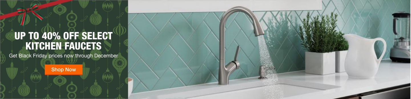 Up to 40% off select kitchen faucets