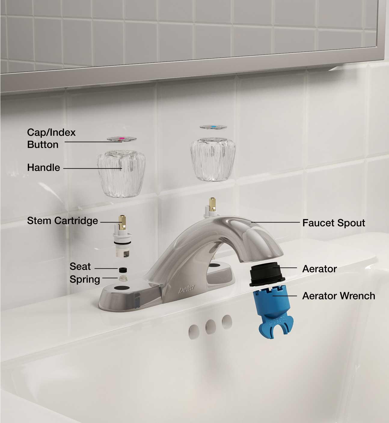 Bathroom faucet parts