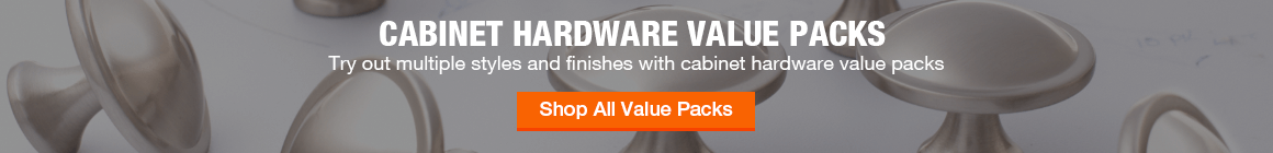 Cabinet hardware value packs