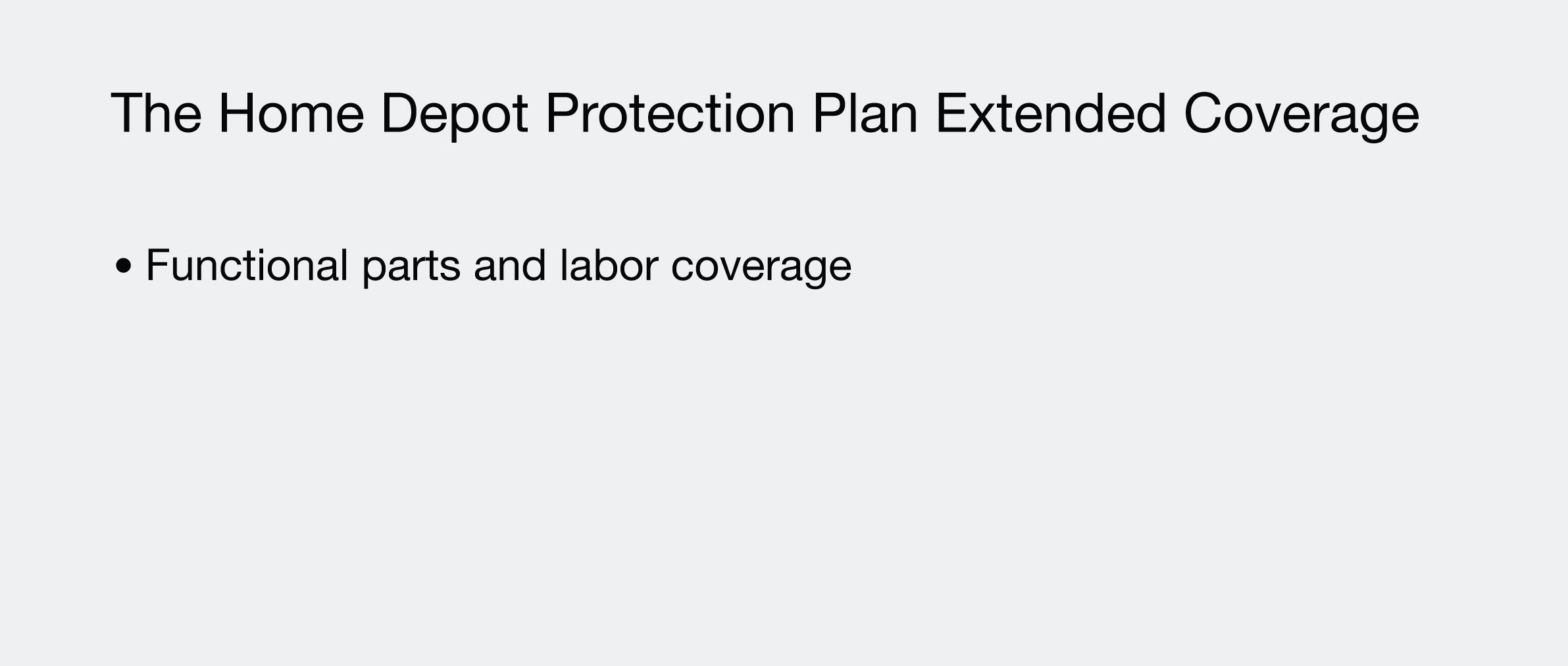 Manufacturer's warranty coverage