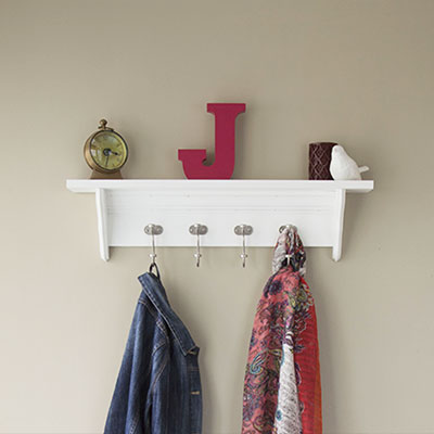 How to make a decorative crown moulding hook rail