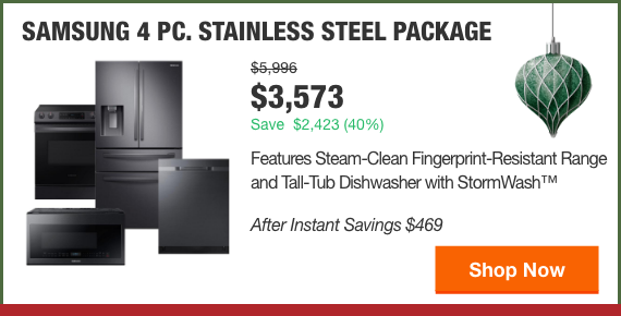 SAMSUNG 4 PC. STAINLESS STEEL PACKAGE