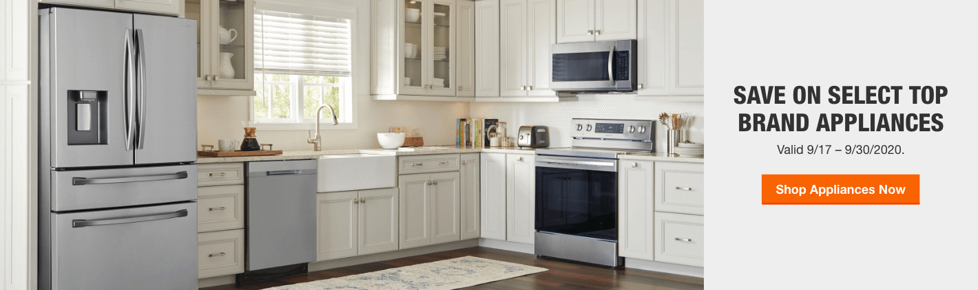 Save On Select Top Brand Appliances Valid 9/17 – 9/30/2020.
