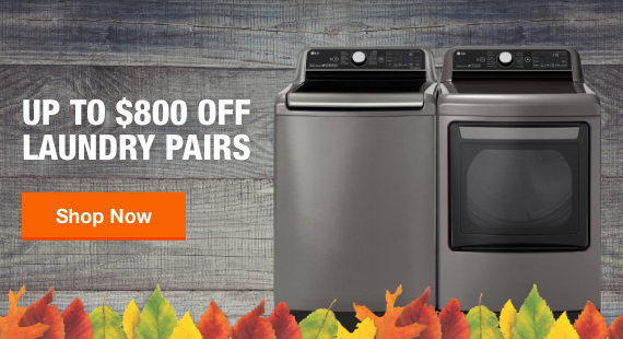 Up to $800 Off Laundry Pairs