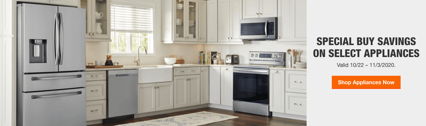 Special Buy Savings on Select Appliances. Valid 10/22 – 11/3/2020. Shop Appliances Now.