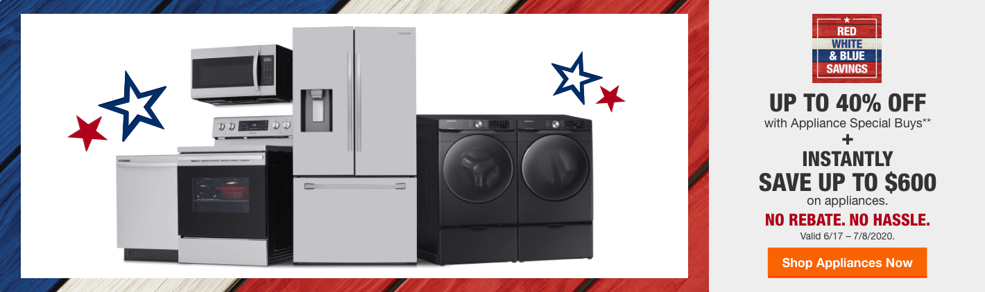 Appliances Red White and Blue Savings