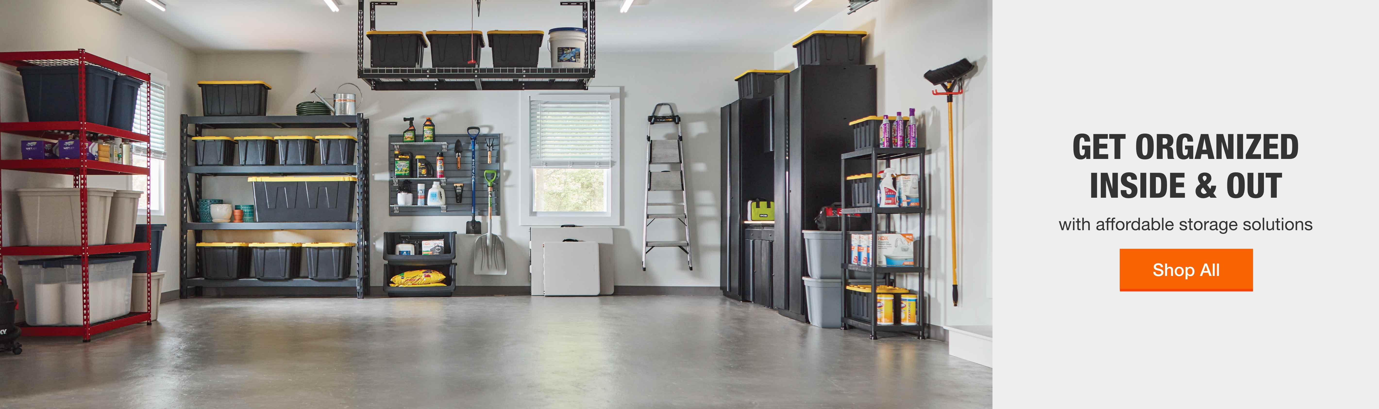 Get organized inside and out with affordable storage solutions