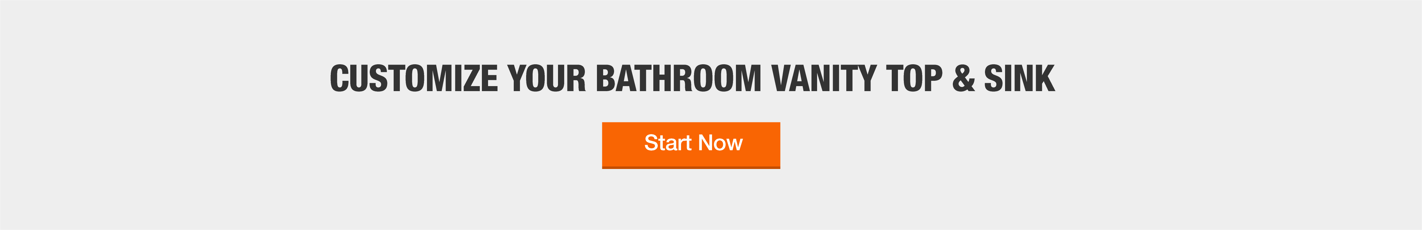 Customize your bathroom vanity top and sink