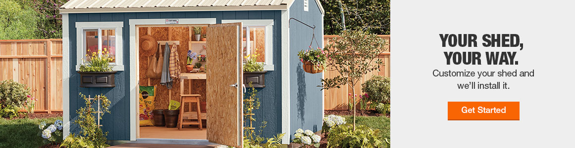 Customize your shed and we'll install it