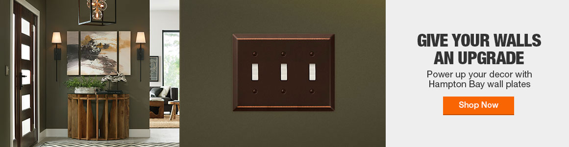 Give your walls an upgrade with Hampton Bay wall plates