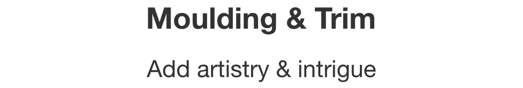 Moulding & Trim