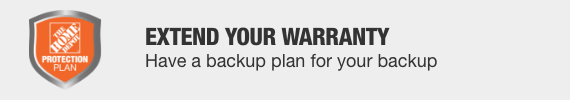Extend your warranty with a The Home Depot Protection Plan