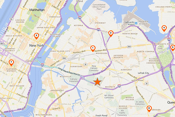 map of Maspeth, New York