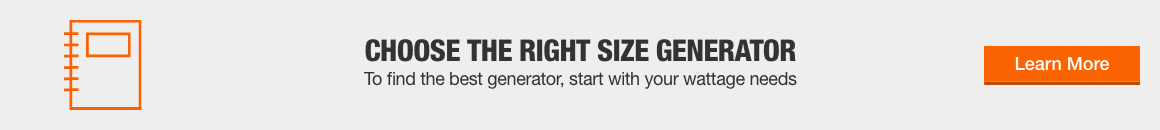 Choose the Right Size Generator
