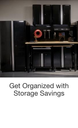 Get Organized with Storage Savings