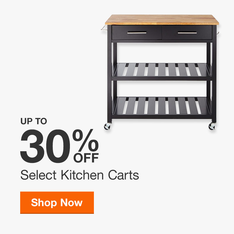 Up to 30% off Select Kitchen Carts