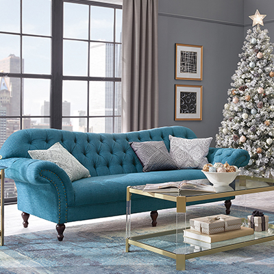 Holiday Glamour Living Room