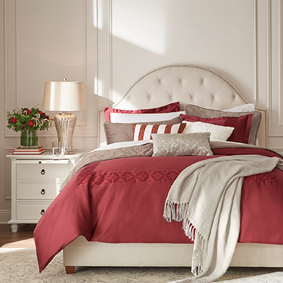 Classically Christmas Bedroom