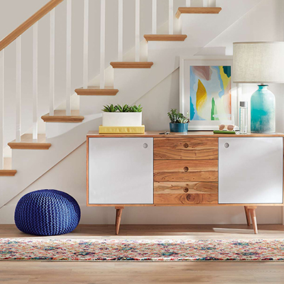 Colorful Comfort Entryway