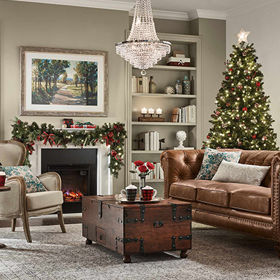 Classic Holiday Living Room