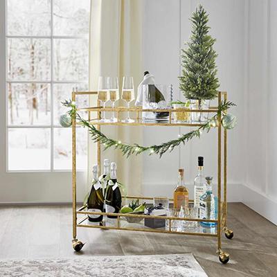 Festive Flair Bar Cart