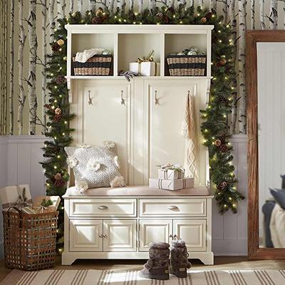 Cozy Christmas Mudroom