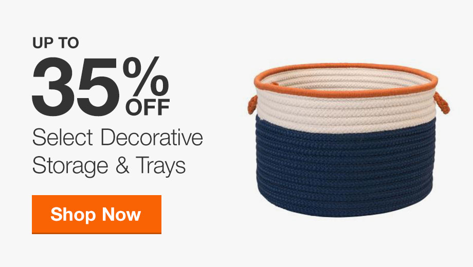 Up to 35% off Select Decorative Storage & Trays
