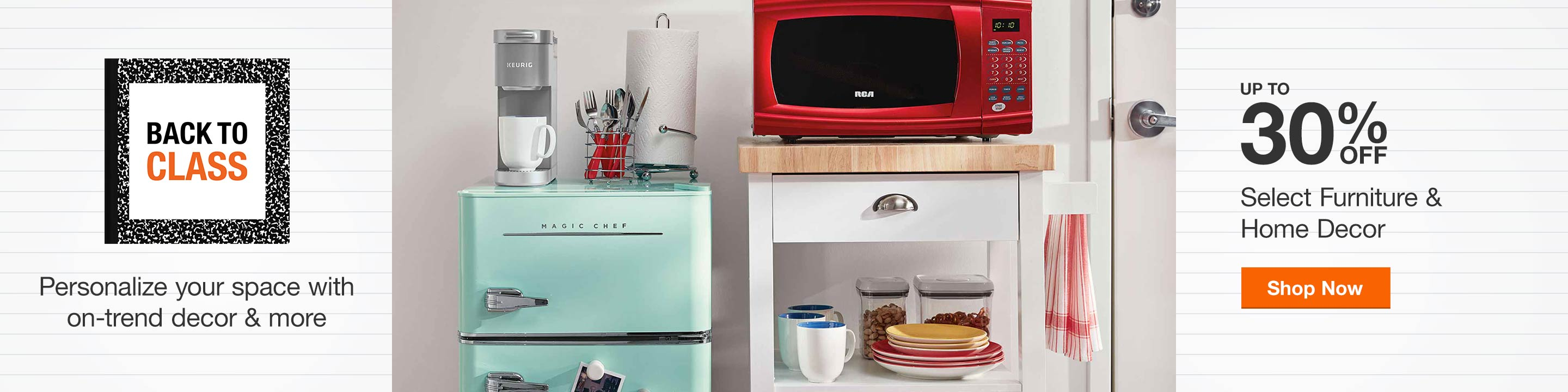 Up to 30% Off Select Furniture & Home Decor