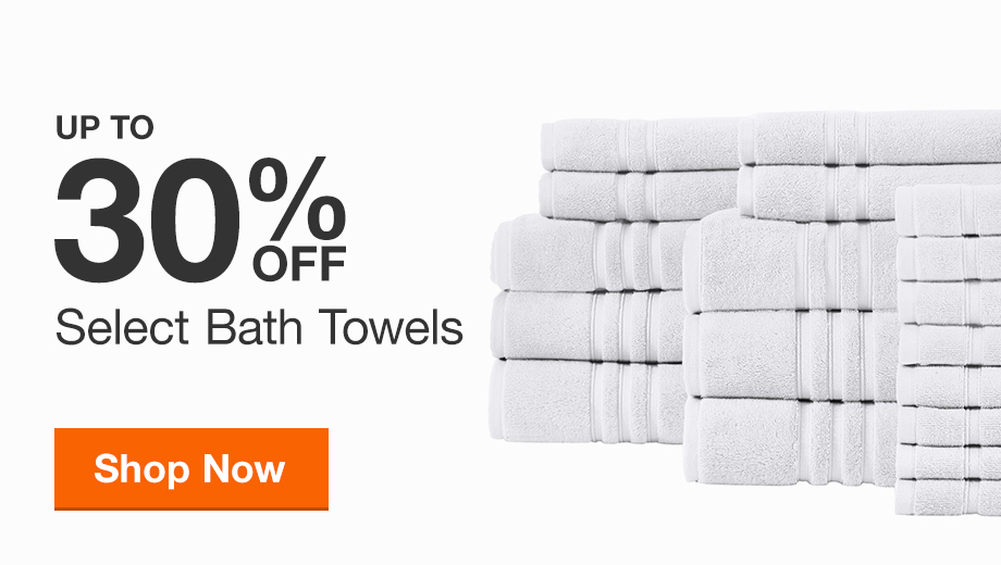 Up to 30% off Select Bath Towels